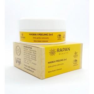 Maska i peeling 2w1 Rapan beauty Żółta glinka syberyjska 100% Natural