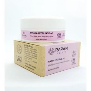 Maska i peeling 2w1 Rapan beauty Błoto iłowo-siarczkowe 100% Natural