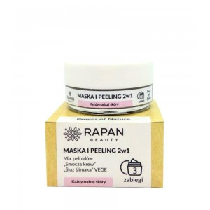 Maska i peeling 2w1 Intensive Care Rapan beauty Power of Nature 3 zabiegi